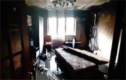 В Вязьме в девятиэтажке на Московской горела квартира