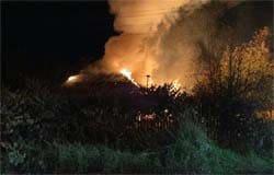 На Локомотивной горел дом