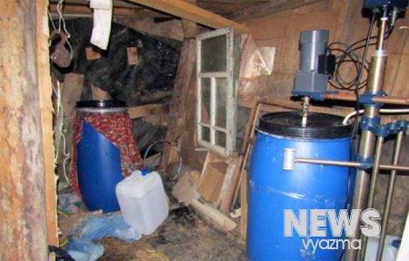 В Вяземском районе накрыли лабораторию с мефедроном
